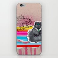 80s iPhone & iPod Skins featuring 80s Bear by Nils Vögeding