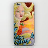 aurora iPhone & iPod Skins featuring Aurora by Amanda Shelton