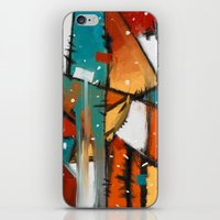 camp iPhone & iPod Skins featuring Camp fire by mystudio69
