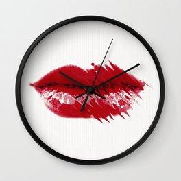 Kiss me Baby Wall Clock