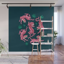 Night Race: Pink Tiger Edition Wall Mural