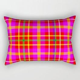 Watermelon Madras Plaid Print Rectangular Pillow
