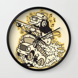 Simpsons Otto - Roth Fink Style Wall Clock