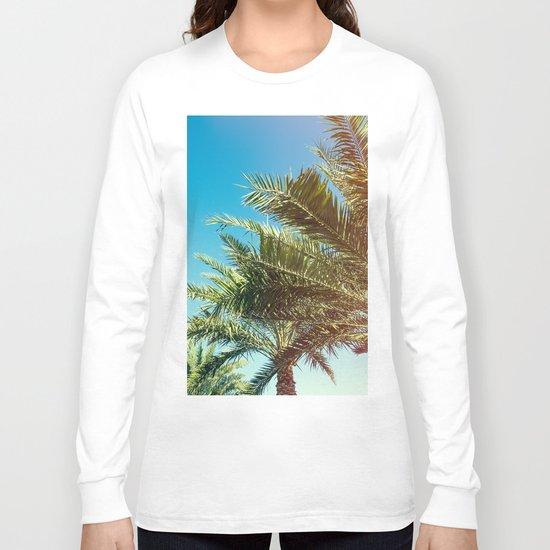 Vintage Palm tree vibes Long Sleeve T-shirt