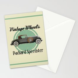 Vintage Wheels - Packard Boattail Speedster Stationery Cards