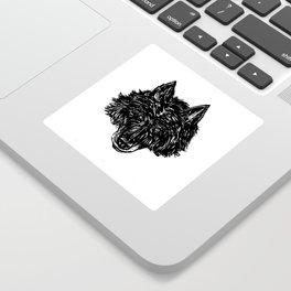 Wolf's Head Sticker