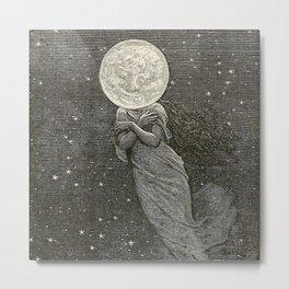 AROUND THE MOON - EMILE-ANTOINE BAYARD Metal Print