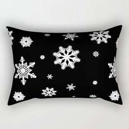 Snowflakes | Black & White Rectangular Pillow