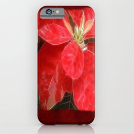 Mottled Red Poinsettia 1 Ephemeral Blank P5F0 iPhone Case