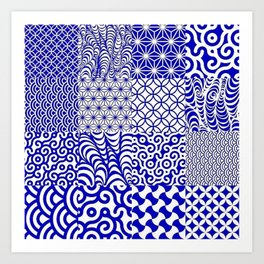 Blue way... Art Print