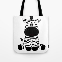 Sitting Zebra Tote Bag