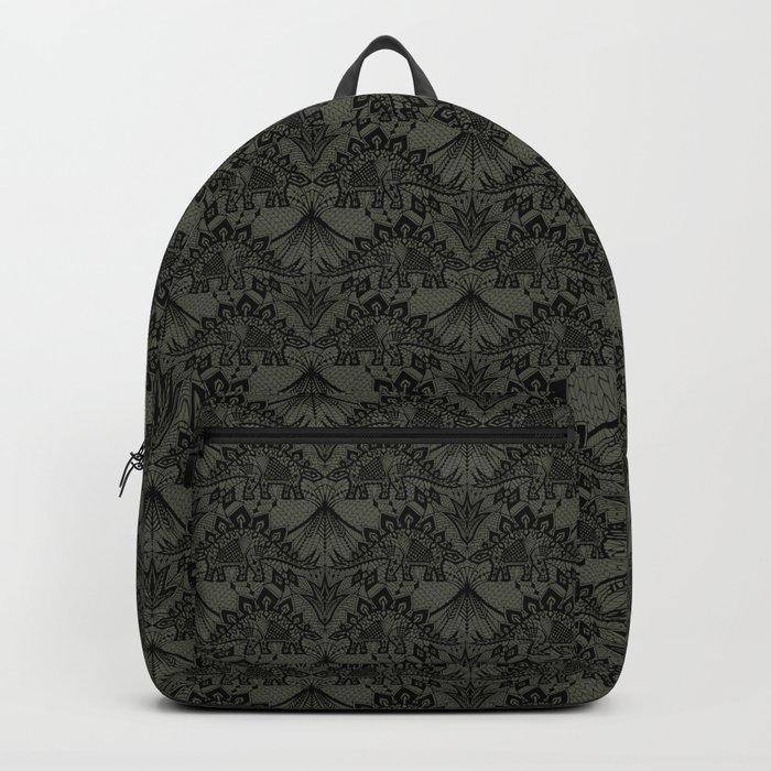 Stegosaurus Lace - Black / Grey Backpack