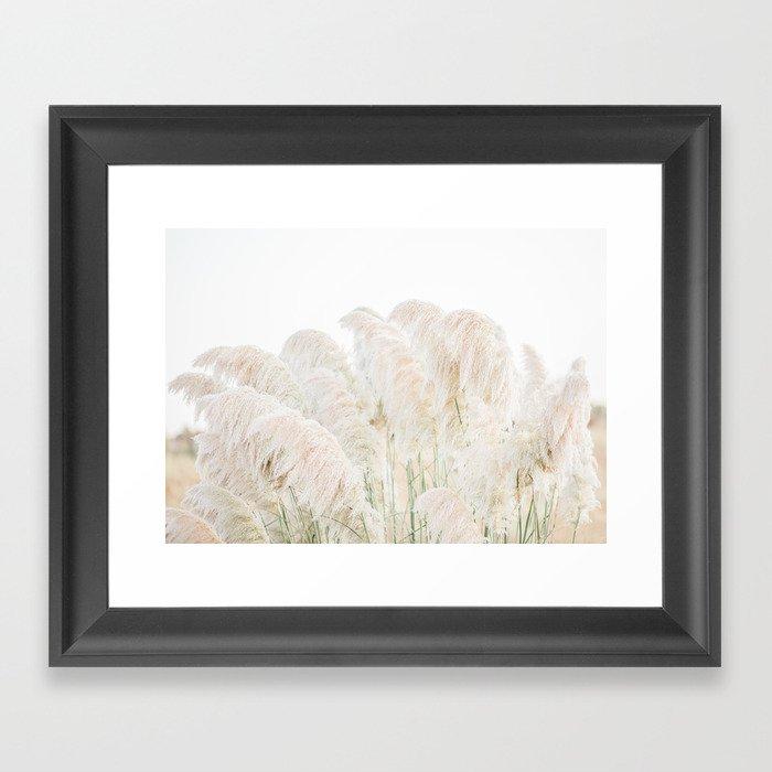 Natural Pampas Grass Gerahmter Kunstdruck