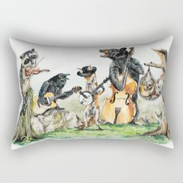 """ Bluegrass Gang "" wild animal music band Rectangular Pillow"