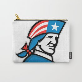 American Patriot Head USA Flag Mascot Carry-All Pouch