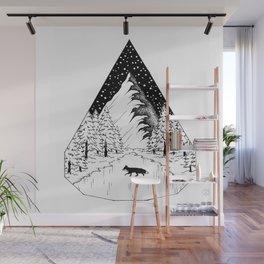 Räven raskar över isen Wall Mural