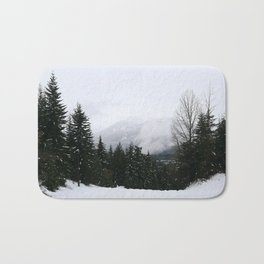 Mist between mountains Bath Mat