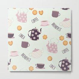 Coffee and Cookies (Main Pattern) Metal Print