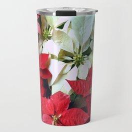 Mixed color Poinsettias 1 Travel Mug