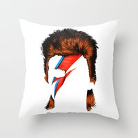 lucas david Throw Pillows featuring David by BomDesignz