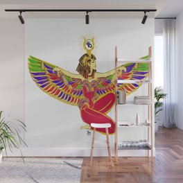 Winged Isis w/Eye of Horus Wall Mural
