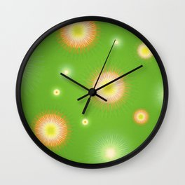 Abstract flowers over graduated background. Spring and summer concept. Wall Clock