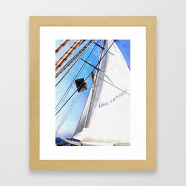 The Realist Adjusts The Sails Framed Art Print