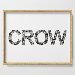 word crow from a Ffock of crows Serving Tray