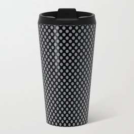 Black and Sharkskin Polka Dots Travel Mug