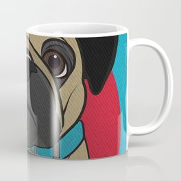 Icons of the Dog Park Pug Design in Bold Colors for Pet Lovers Coffee Mug