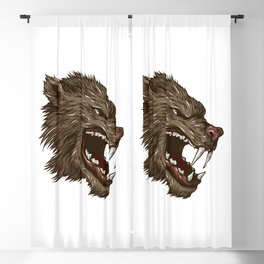 Head of mythical creature Blackout Curtain