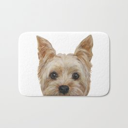 Yorkshire Terrier original painting print Bath Mat