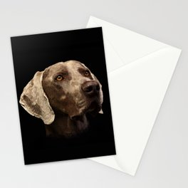 Weimaraner Portrait Stationery Cards