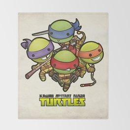 Kawaii Mutant Ninja Turtles Throw Blanket
