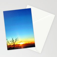 Mountain sunset. Stationery Cards