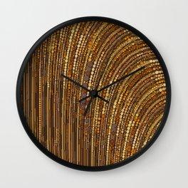 zara - art deco arc arch design in bronze copper gold Wall Clock