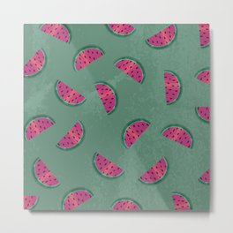 Watermelon Wiggle Metal Print
