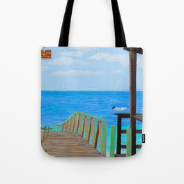 Lookout along Grand Case Beach Tote Bag