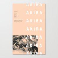 akira Canvas Prints featuring Akira by hana prints