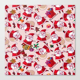 Santa Gift Pattern Canvas Print