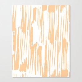 Modern Coral Stripes IV Canvas Print