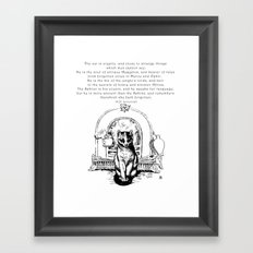 The Cat is Cryptic Framed Art Print