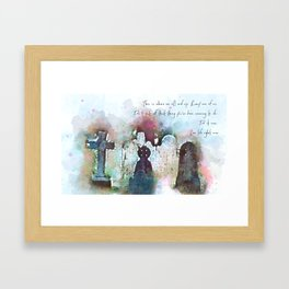 This is where we all end up. Framed Art Print