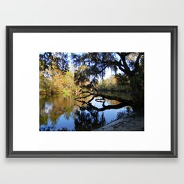 Fall River Reflections Framed Art Print
