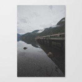 Lake Crescent Pier  Canvas Print