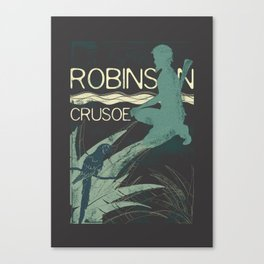 Books Collection: Robinson Crusoe Canvas Print