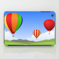 hot air balloons iPad Cases featuring Hot Air Balloons by Henry Meadowlark