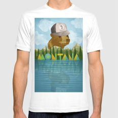 Montana MEDIUM Mens Fitted Tee White