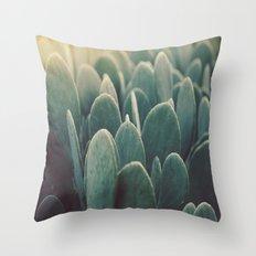 Green + Gold Throw Pillow