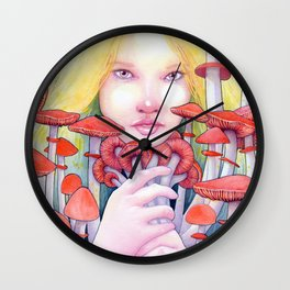 Keeper of the Scarlet Garden Wall Clock